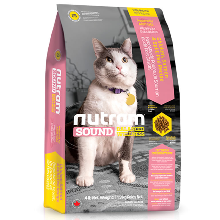 S5 Nutram Sound Adult and Senior Cat