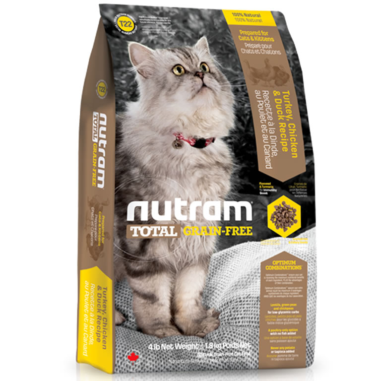 T22 Nutram Total Turkey, Chicken & Duck Cat
